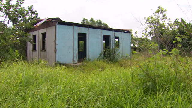 abandoned dwelling in vunidogola, fiji, after village has been relocated due to encroaching coastal waters from climate change. - pacific ocean stock videos & royalty-free footage