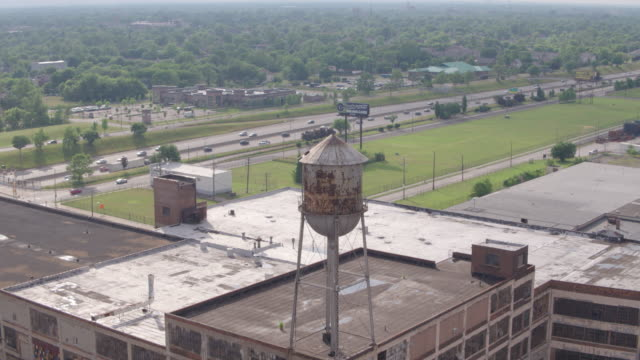 Abandoned Factory Detroit Aerial