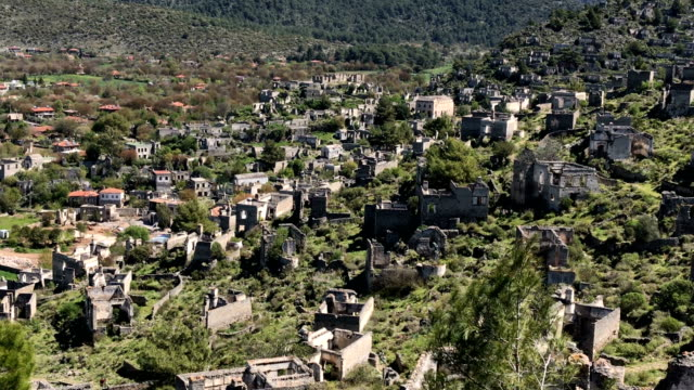 abandoned greek village kayakoy in fethiye - fethiye stock videos and b-roll footage