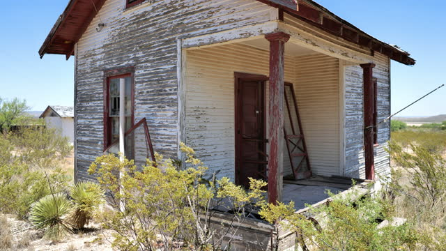 abandoned house in the desert - nuclear fallout stock videos & royalty-free footage