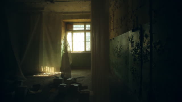 abandoned house. old room interior - horror stock videos & royalty-free footage