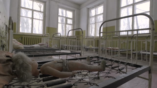 abandoned kindergarten - nuclear power station stock videos & royalty-free footage