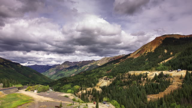 abandoned mine in san juan mountains - timelapse - colorado stock videos & royalty-free footage
