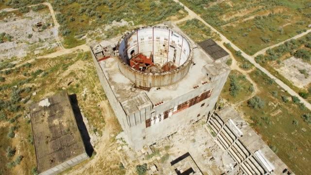 vídeos y material grabado en eventos de stock de antena: central nuclear abandonada - fusión nuclear