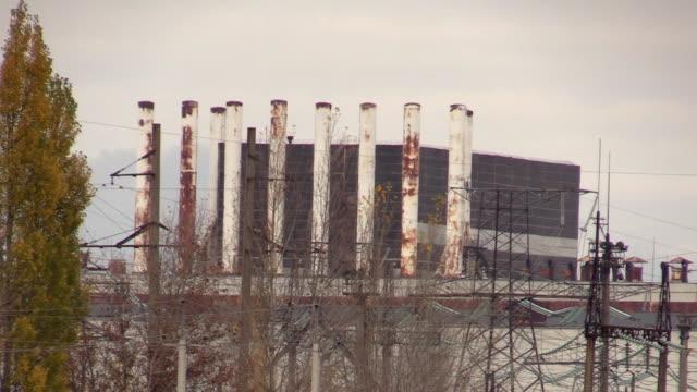 stockvideo's en b-roll-footage met abandoned nuclear reactor of chernobyl npp - kernramp van tsjernobyl