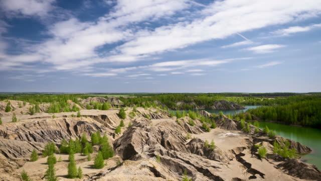 vidéos et rushes de lac et des carrières abandonnées de plein air - étendue sauvage état sauvage