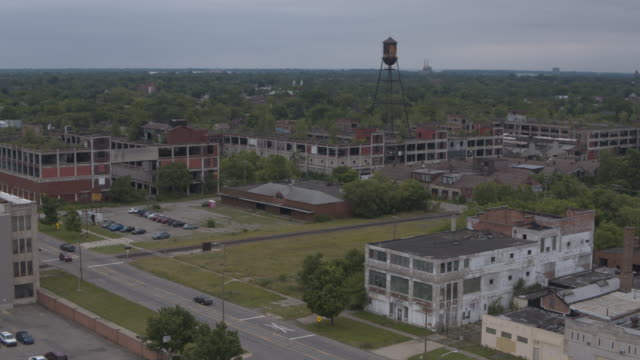Abandoned Plant Detroit Aerial