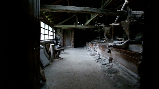 abandoned remote old mill - millstone stock videos & royalty-free footage