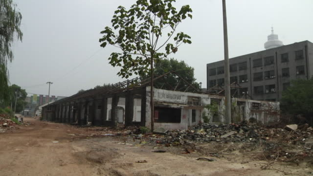 ws abandoned ruined building / nanjing, china - nanjing stock videos & royalty-free footage