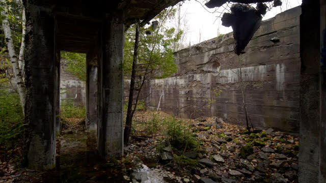 abandoned ruins from copper mining industry in michigan - abandoned stock videos & royalty-free footage