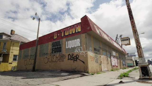 abandoned store in detroit time lapse - bad condition stock videos & royalty-free footage