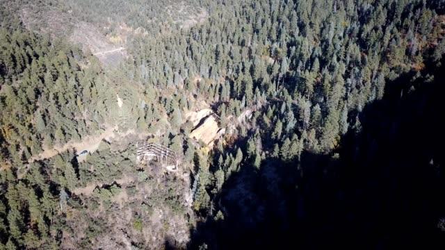 abandoned structure hidden in mountains of prescott arizona - prescott arizona stock videos & royalty-free footage