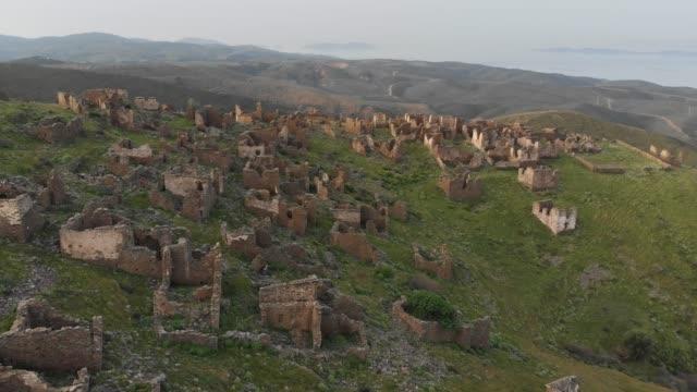 abandoned village sazak, karaburun, izmir, turkey - local landmark stock videos & royalty-free footage
