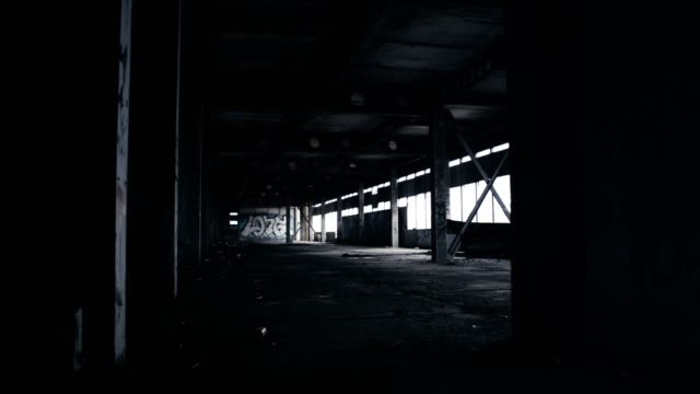 abandoned warehouse. demolished brick walls - boundary stock videos & royalty-free footage
