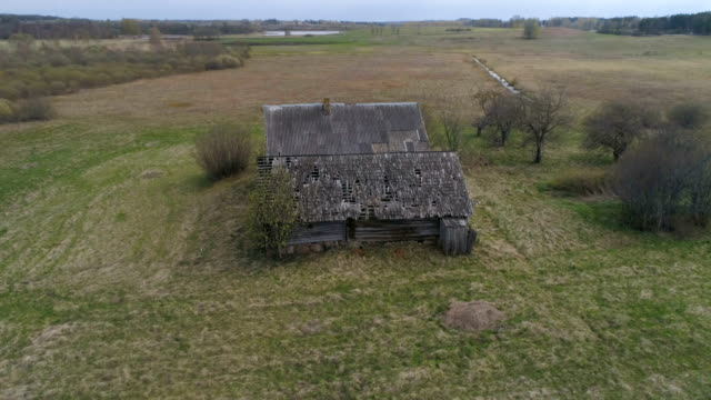 abandoned wooden house in latvia - abandoned stock videos & royalty-free footage