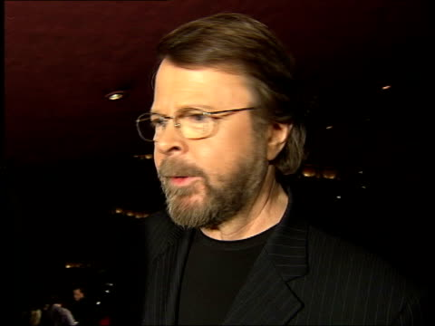 Mama Mia musical celebrates 5 years Abba celebrate 30 years Mama Mia musical celebrates 5 years ITN Bjorn Ulvaeus interview SOT