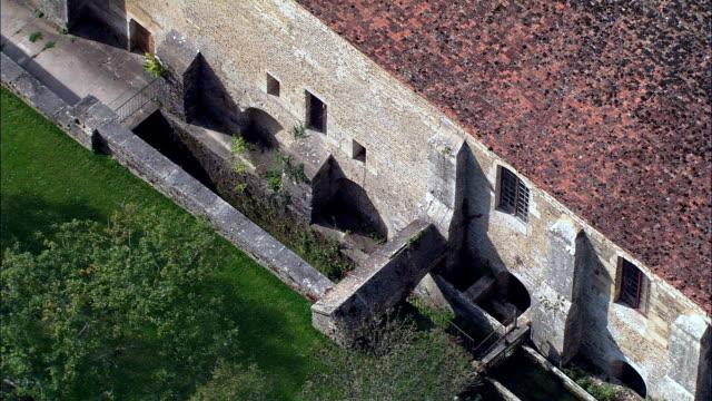 Abbaye De Fontenay  - Aerial View - Bourgogne, Cote d'Or, Arrondissement de Montbard, France