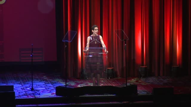 speech abbe land speaks at the trevor project's trevorlive new york at marriott marquis hotel on june 13 2016 in new york city - marriott marquis new york stock videos & royalty-free footage