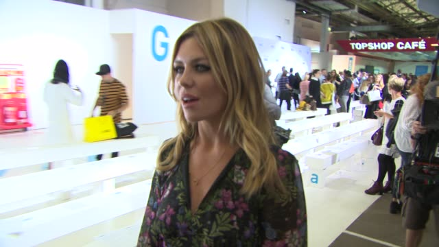 Abbey Clancy at Topshop Unique SS15