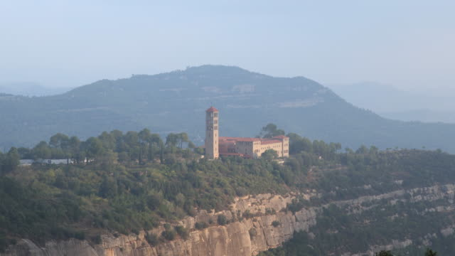 abbey of saint benedict of montserrat - 1954 stock videos & royalty-free footage