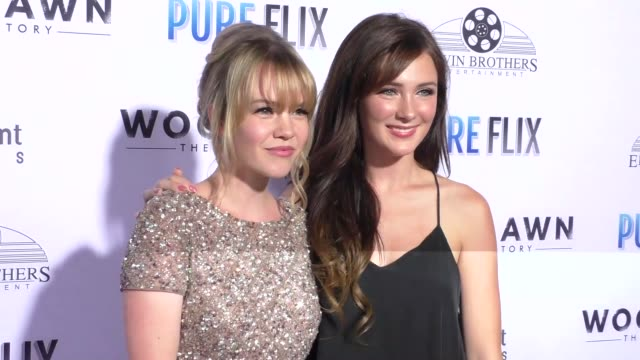 Abbie Cobb and Samantha Munro at the Woodlawn Premiere at Bruin Theatre on October 05 2015 in Los Angeles California