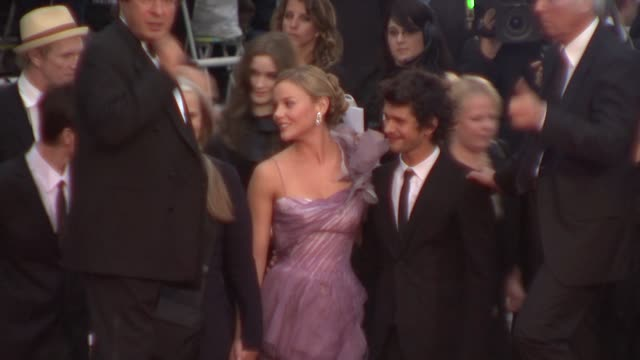 abbie cornish and ben whishaw at the cannes film festival 2009: bright star steps at cannes . - ben whishaw stock videos & royalty-free footage