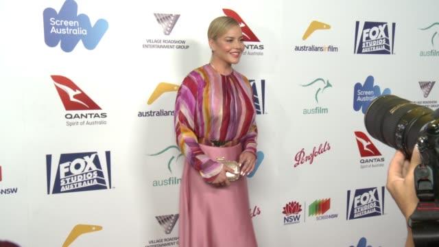 vídeos de stock, filmes e b-roll de abbie cornish at 6th annual australians in film award benefit dinner in los angeles ca - abbie cornish