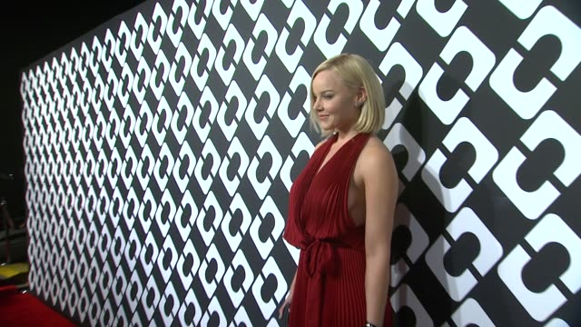 abbie cornish at diane von furstenberg's journey of a dress exhibition opening celebration in los angeles ca - wrap dress stock videos and b-roll footage