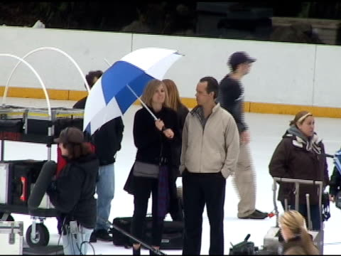 Abbie Cornish filming in Central Parks Wollman Skating Rink at the Celebrity Sightings in New York at New York NY