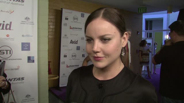 Abbie Cornish on how it feels to be recognized what she's learned about herself in the last year what Australian actors bring to the table her...