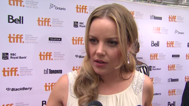 Abbie Cornish on the film on her character on Madonna being such a force at the 'WE' Premiere 2011 Toronto International Film Festival at Toronto ON
