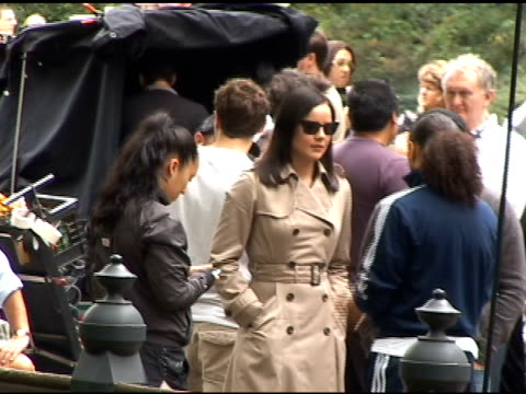 Abbie Cornish on the set of WE in Central Park at the Celebrity Sightings in New York at New York NY
