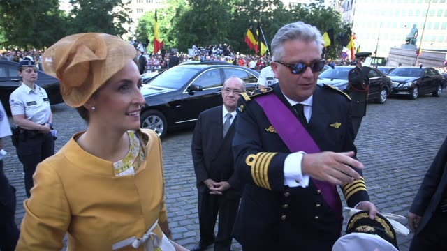 abdication of king albert ii of belgium coronation of king philippe at cathedral of st michael and saint gudula in brussels belgium - king royal person stock videos & royalty-free footage