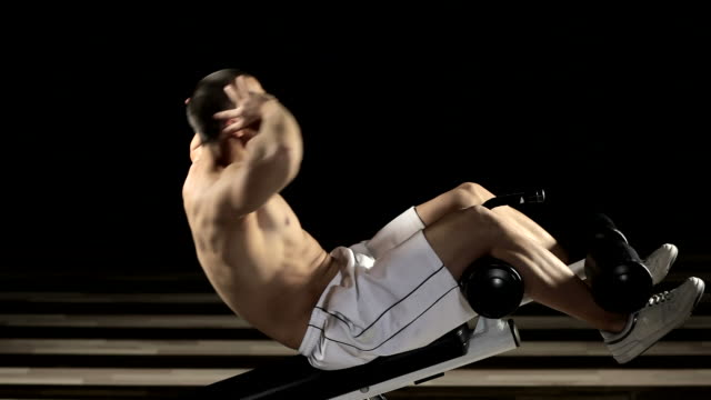 abdominal exercise - pectoral muscle stock videos and b-roll footage