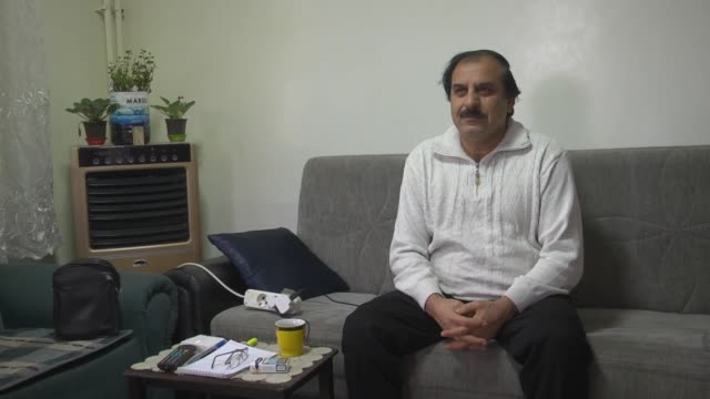 Abdul Bari Usman the press secretary of the Syrian National Kurdish Council speaks at an exclusive interview in Kilis Turkey on January 18 2018 The...