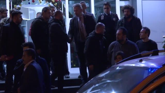 Abdullah Kizilirmak and Mehmet Gargili two Turkish nationals detained by Israeli police on Friday in East Jerusalem arrive in Istabul Turkey on...