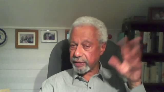 abdulrazak gurnah wins nobel prize for literature; england: int abdulrazak gurnah 2-way interview sot - literature stock videos & royalty-free footage