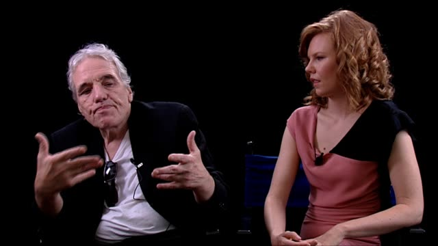 abel ferrara and shanyn leigh on having a difference view on things after completing filming at the 4:44 last day on earth interviews: venice film... - last day stock videos & royalty-free footage