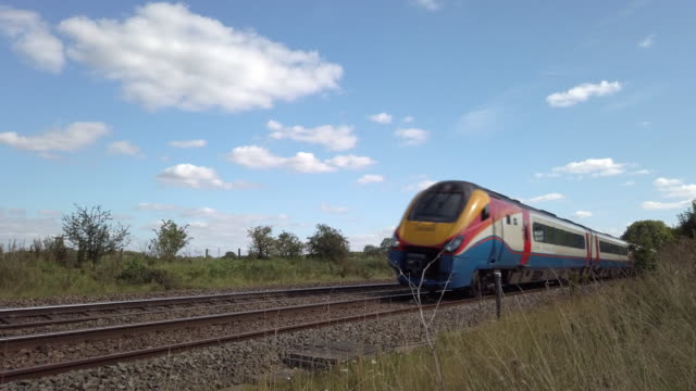 abellio east midlands railway intercity train. - tramway stock videos & royalty-free footage