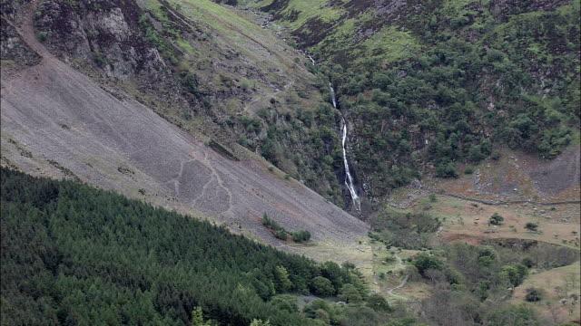 Aber Falls  - Aerial View - Wales, Caernarfonshire and Merionethshire, Aber, United Kingdom