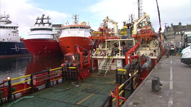 aberdeen harbour stockshots on april 23, 2013 in edinburgh, scotland - aberdeen scotland stock videos & royalty-free footage