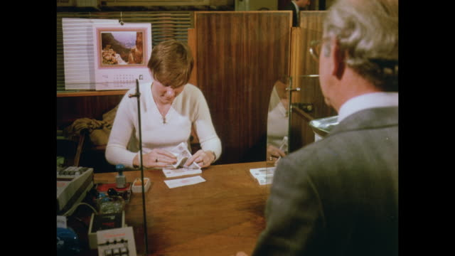 1981 aberdeen, scotland - cashier stock videos & royalty-free footage