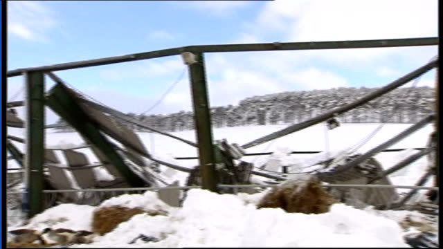 aberdeenshire huntley collapsed barn - aberdeenshire stock videos & royalty-free footage