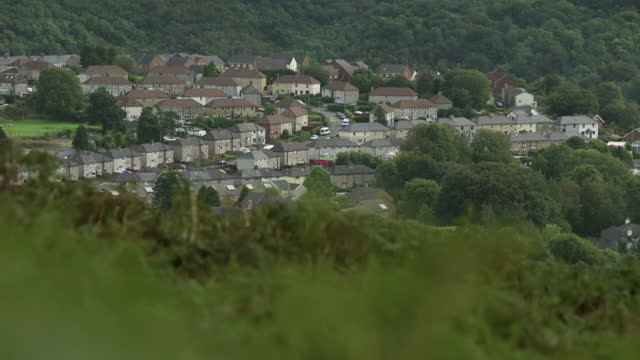 pf abersychan, wales - general view stock videos & royalty-free footage