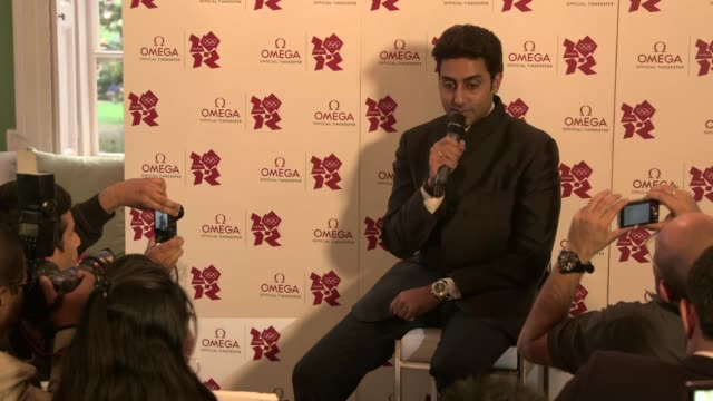 abhishek bachchan on being a brand ambassador mary kom's performance the spirit of the games at omega house presents the best of bollywood on august... - bollywood stock videos and b-roll footage