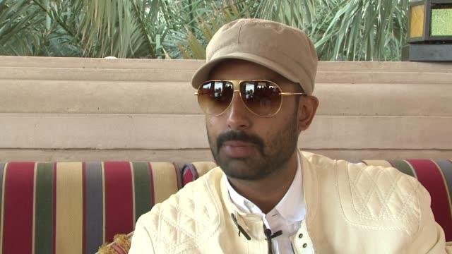 Abhishek Bachchan on not having any tensions with wife Aishwarya Rai on set at the 2008 Dubai International Film Festival Delhi 6 Interviews at Dubai