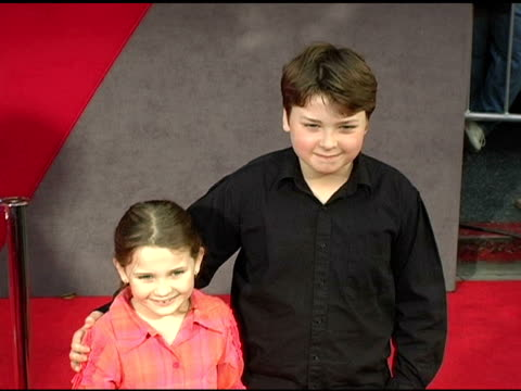 Abigail Breslin and Spencer Breslin at the 'The Incredibles' Premiere at the El Capitan Theatre in Hollywood California on October 25 2004