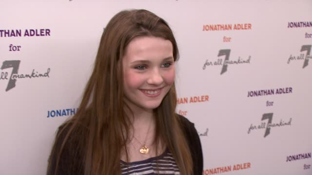 stockvideo's en b-roll-footage met abigail breslin at the jonathan adler for 7 for all mankind launch party at new york ny - abigail breslin