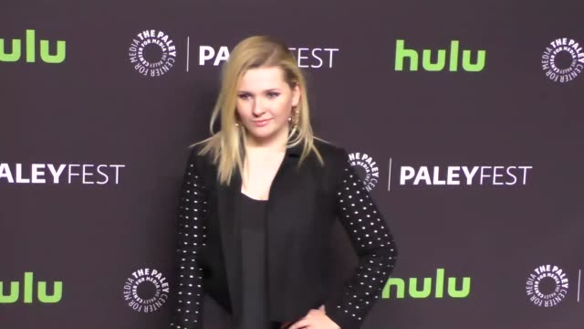 abigail breslin at the paley center for media 'scream queens' presentation at paleyfest at the dolby theatre in hollywood at celebrity sightings in... - paley center for media los angeles stock videos & royalty-free footage