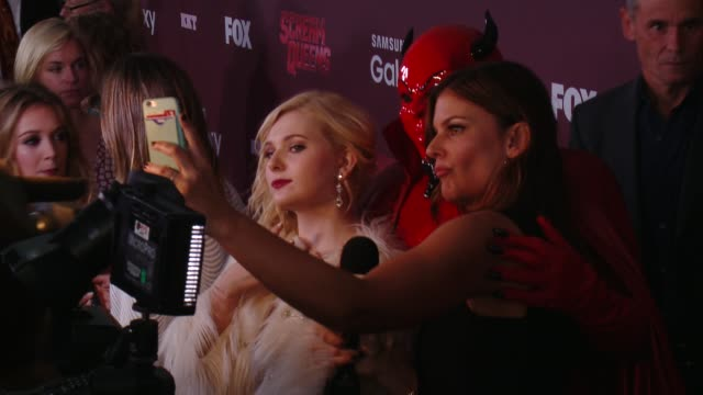 "abigail breslin at the ""scream queens"" los angeles premiere & party at the wilshire ebell theatre on september 21, 2015 in los angeles, california. - wilshire ebell theatre stock videos & royalty-free footage"